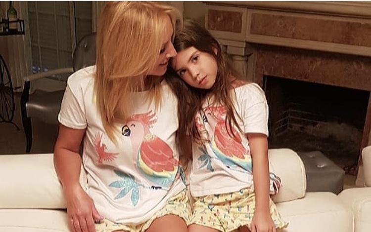 Teresa e a neta Dafne