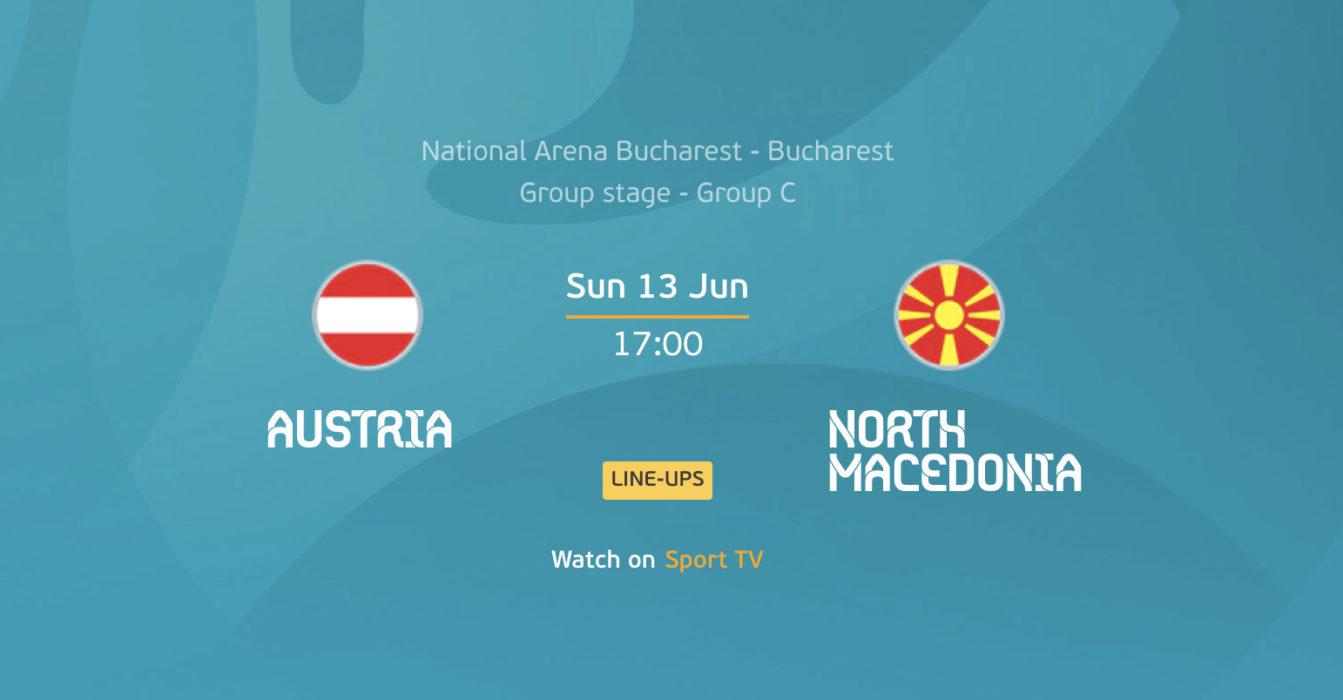 Euro 2020: Áustria – Macedónia do Norte
