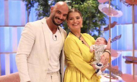 Andreia Filipe, marido e o filho