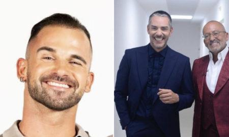 Rafael Teixeira e os apresentadores Goucha e Cláudio Ramos