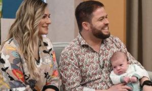 Tatiana e Bruno e o filho pequeno Artur Maria